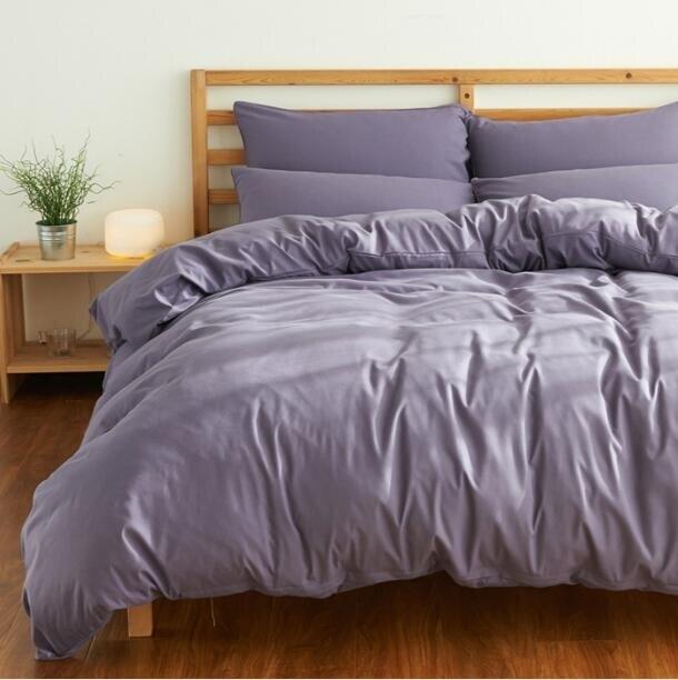 床罩床包四件組 素面四件套全棉棉質100被套 床單學生單人宿舍三件套床上用品夏季 進店領券
