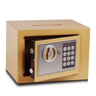 小型全鋼機械保險櫃家用保管箱迷你入牆床頭電子密碼保險箱 娜娜小屋 交換禮物 送禮
