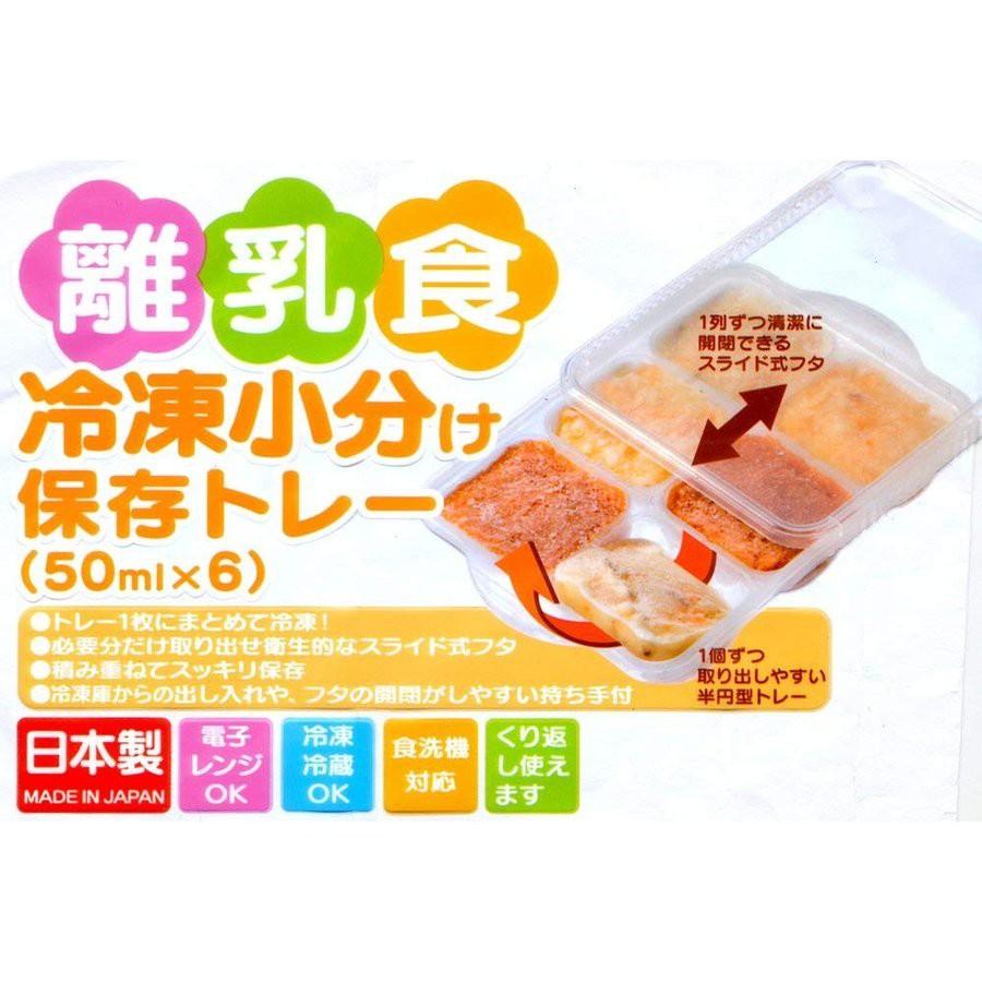 日本製 SKATER 離乳食冷凍分裝盒/副食品冷凍儲存盒(附蓋)50mlX6格*花小小*