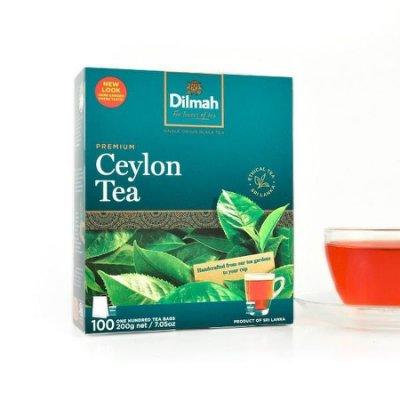 【即享萌茶坊】(這個賣場販售的是貨運送貨不小心,外盒有壓到作特價便宜賣喔)Dilmah帝瑪錫蘭紅茶100茶包/盒