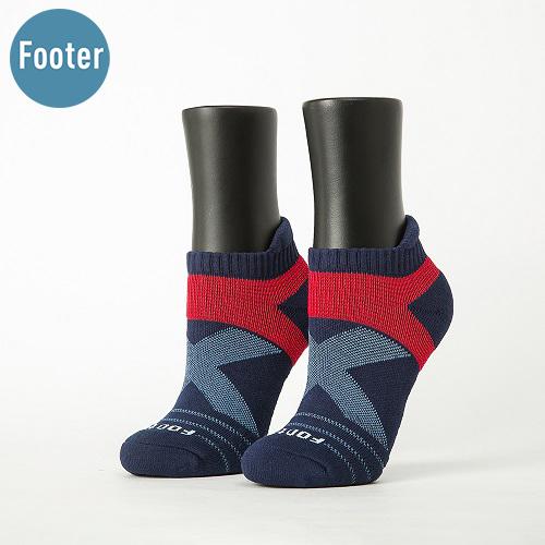 《Footer - X型雙向減壓足弓船短襪 女款 | 深藍》特殊材質不易鬆脫,乾爽舒適包覆性佳