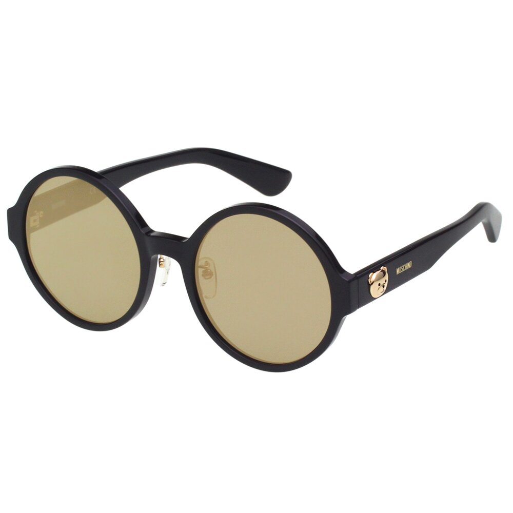 Moschino 復古圓面 小熊 太陽眼鏡(黑色)