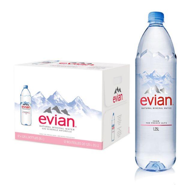 (售價含運)Evian 天然礦泉水 1250毫升 X 12入