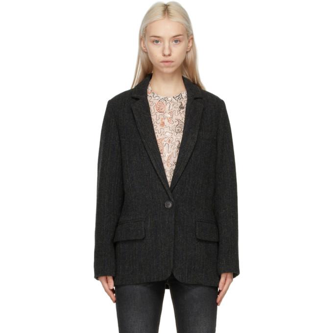 Isabel Marant Etoile 黑色 Charly 初剪羊毛西装外套
