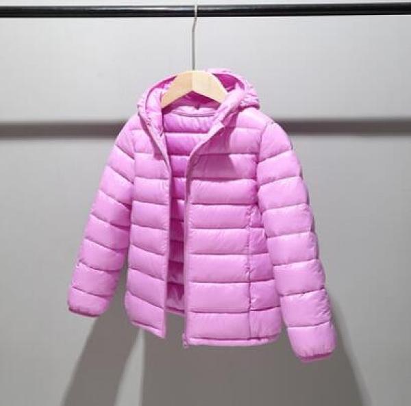 兒童棉服 兒童羽絨棉服輕薄款男童棉襖中大童棉衣女童冬裝寶寶外套【快速出貨八折促銷】