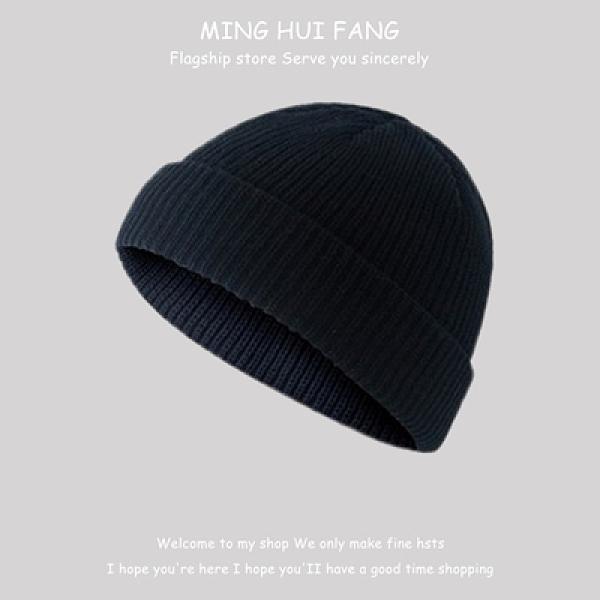 地主帽冷帽女復古圓頂頭針織帽保暖毛線包【少女顏究院】