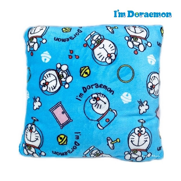 【SAS】日本限定 哆啦a夢 繪圖滿版 保暖 抱枕 / 靠墊 / 坐墊
