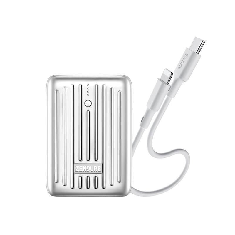 10000mAh SuperMini PD快充行動電源+25cm C to Lightning 充電傳輸線 行動電源(藍)+充電傳輸線(白)