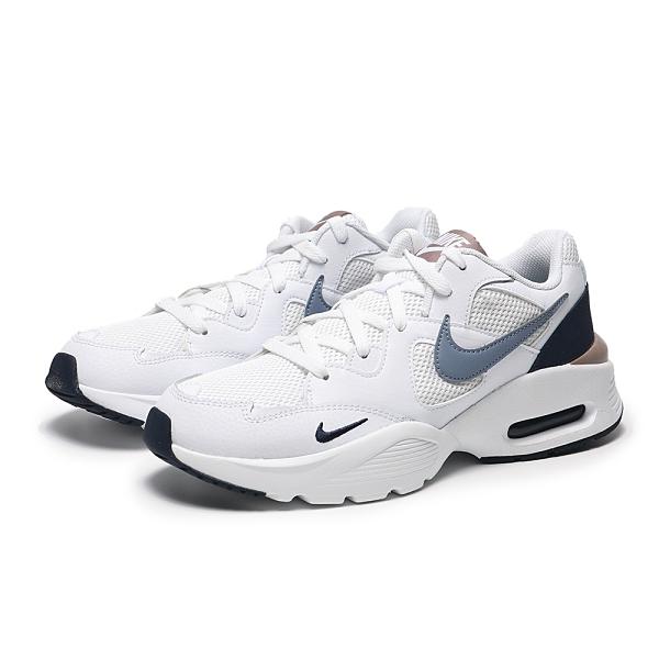 NIKE 慢跑鞋 AIR MAX FUSION 白 藍黑金 網布 拼接 男 (布魯克林) CJ1670-105