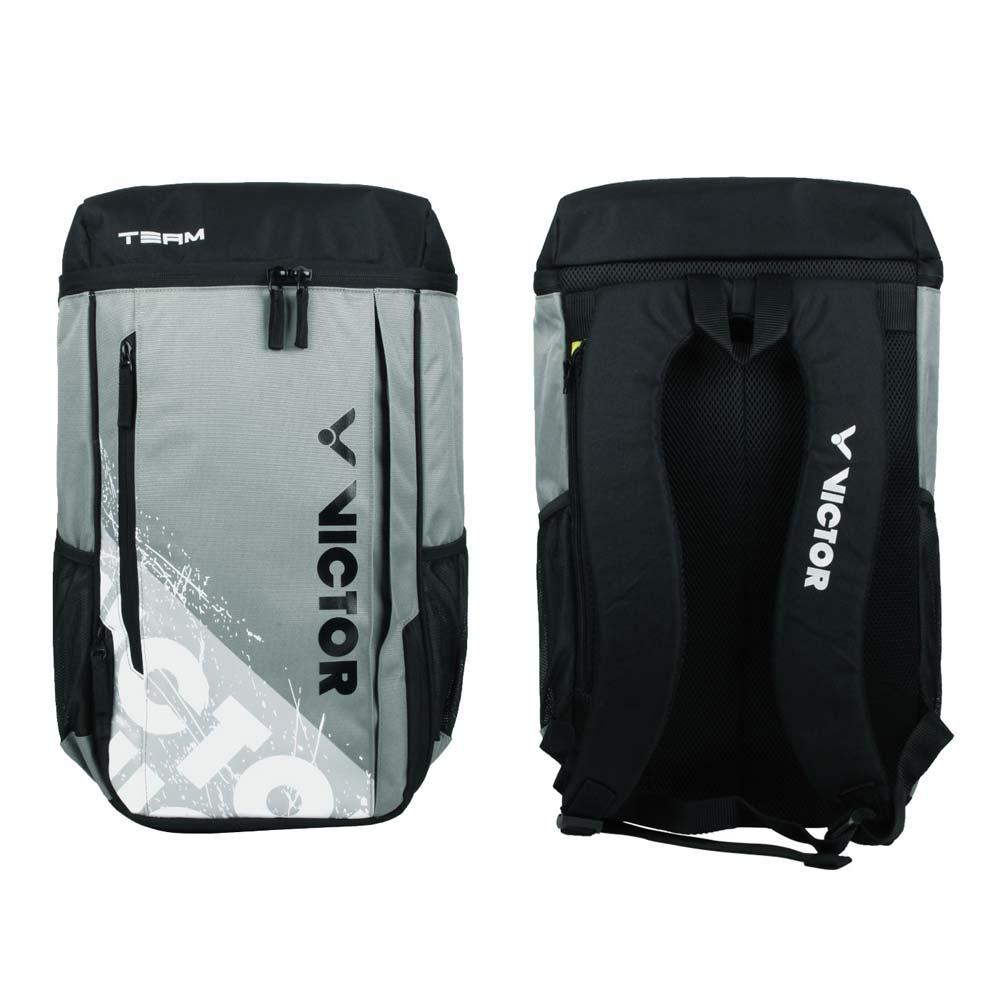 VICTOR 背包-後背包 雙肩包 肩背包 裝備袋 球拍包 羽球 勝利 黑綠灰白 F