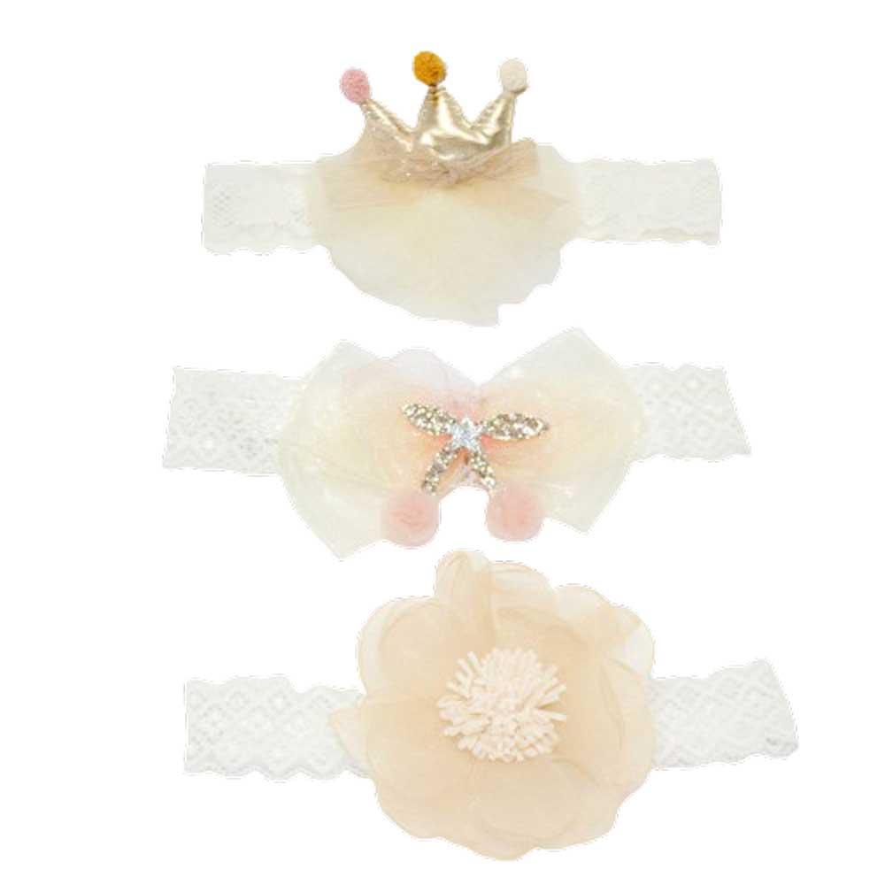 韓式公主蝴蝶結髮帶禮盒 三件組 花球皇冠【CH003A3079】