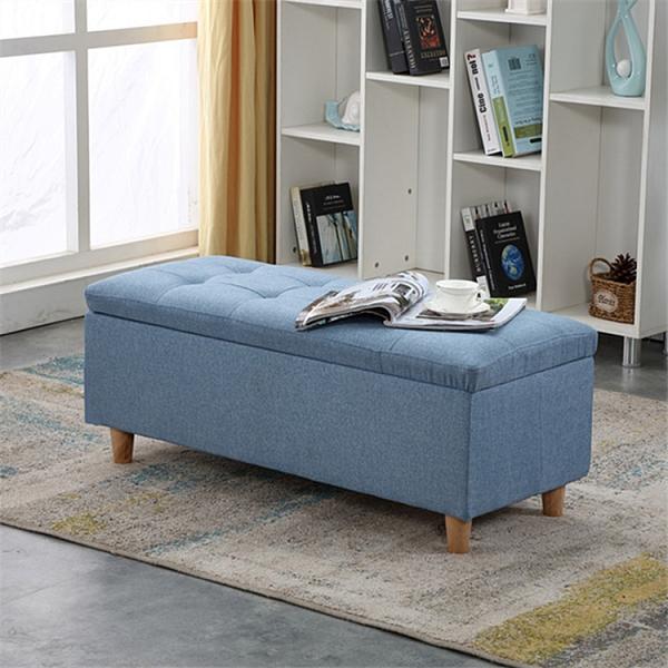 收納凳 換鞋凳服裝店布藝沙發凳簡約床尾收納凳儲物凳家用門口休息凳長凳【幸福小屋】