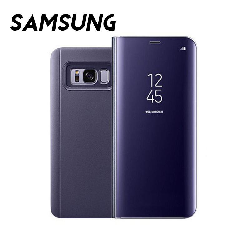Samsung S20 FE/Note10/Note9/Note8/S9/S8/S7/A70/A50/A20系列 智能曲面流光電鍍翻蓋皮套手機殼(七色)【RCSAM072】