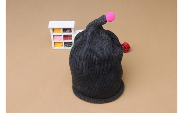 歲末清倉~寶寶可愛保暖毛線針織帽 護耳套頭帽 可愛尖尖頭帽