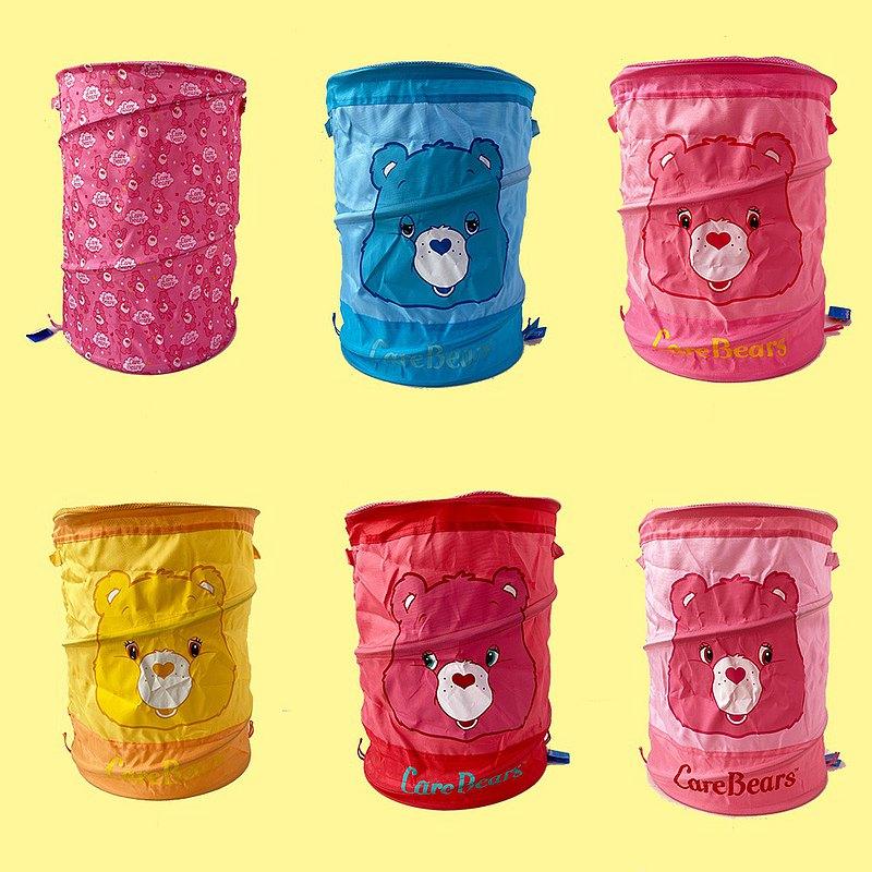 彩虹小熊 Care Bears 正版授權 -大容量可折疊束口洗衣籃 收納籃