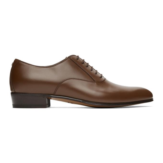 Gucci 棕色 Double G 牛津鞋