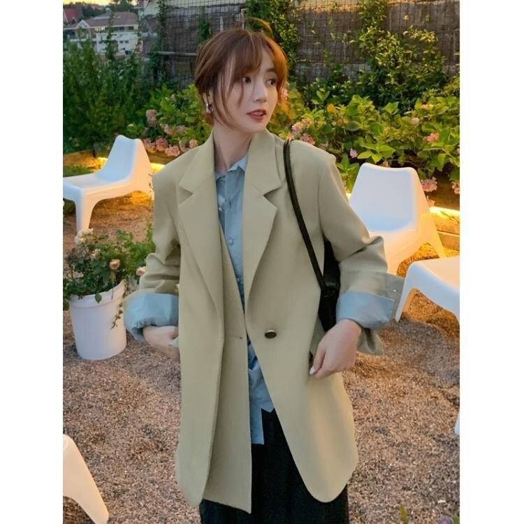 西裝外套 2020年新款設計感小眾秋季西裝女小西服薄款外套氣質時尚百搭穿搭