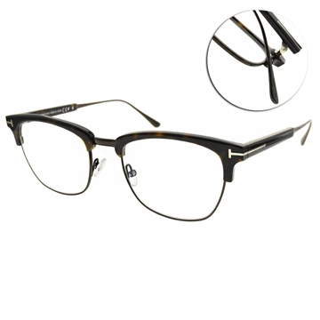 TOM FORD 鈦光學眼鏡 經典眉框款 (深邃琥珀-槍黑) #TF5590-B 052