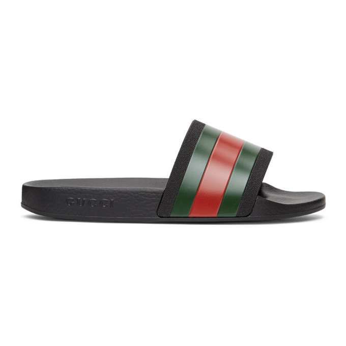 Gucci 黑色 Pursuit 拖鞋