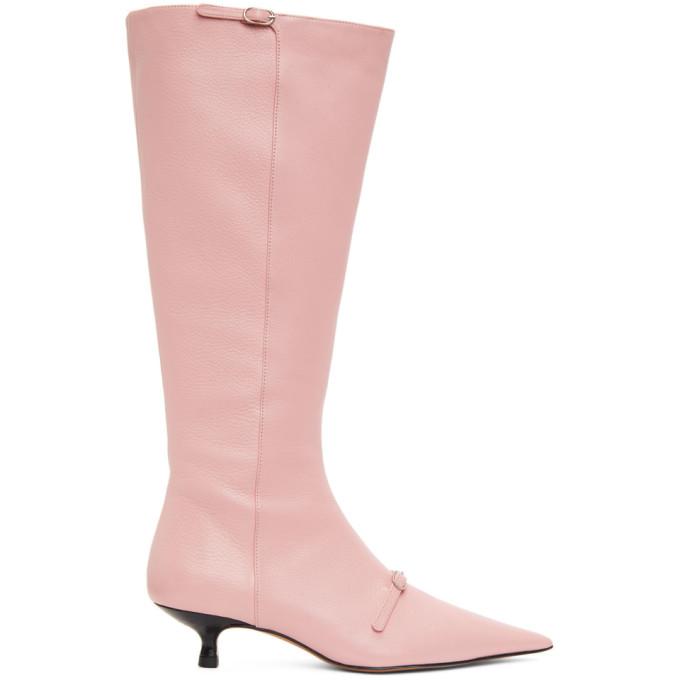 Abra SSENSE 独家发售粉色 Flare 高筒靴