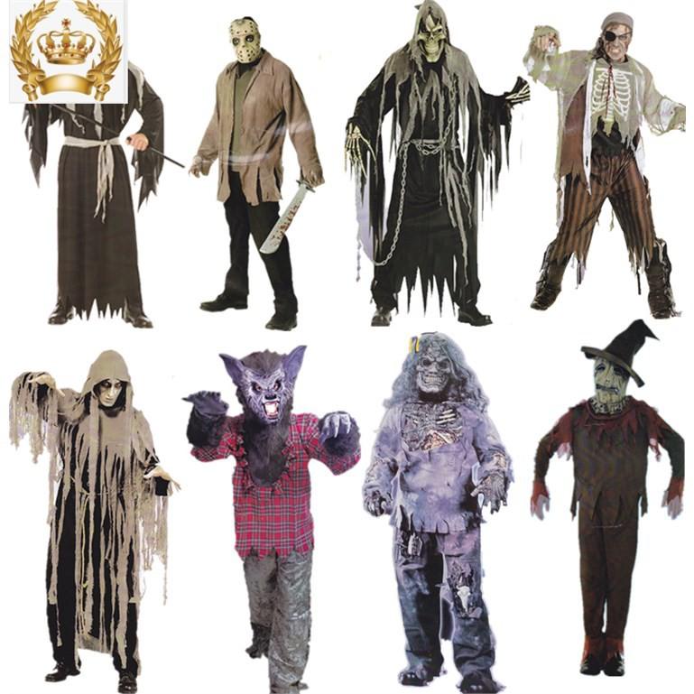 萬圣節服裝 成人男酒吧演出服恐怖狼人裝扮cosplay兒童喪尸鬼衣服