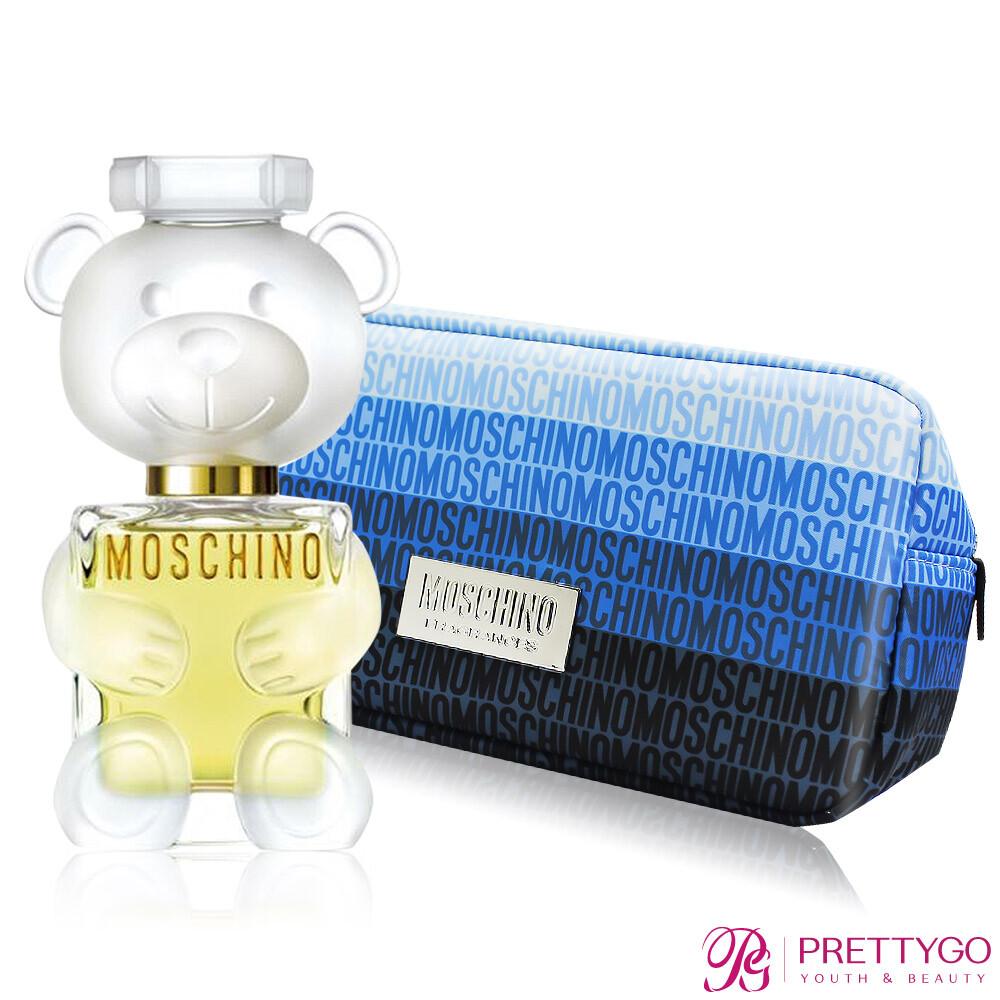 moschino 莫斯奇諾 熊芯未泯2女性淡香精(50ml)送藍色漸層化妝包