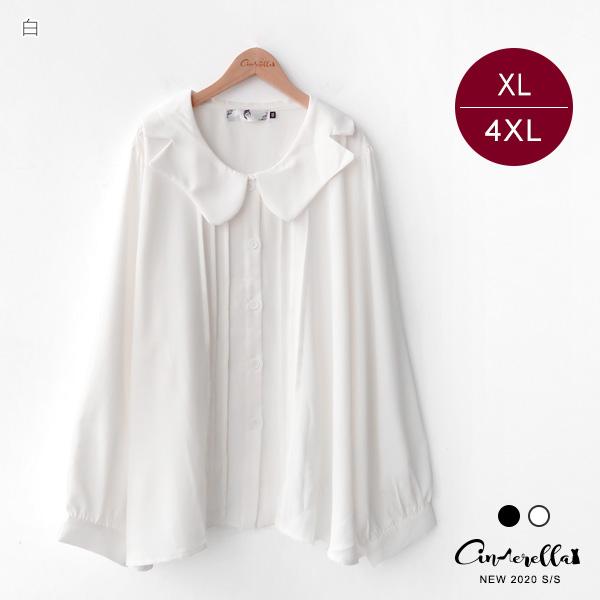 【SUC2075】 雪仿襯衫 XL-4XL 黑/白 1023中大尺碼 (預購)