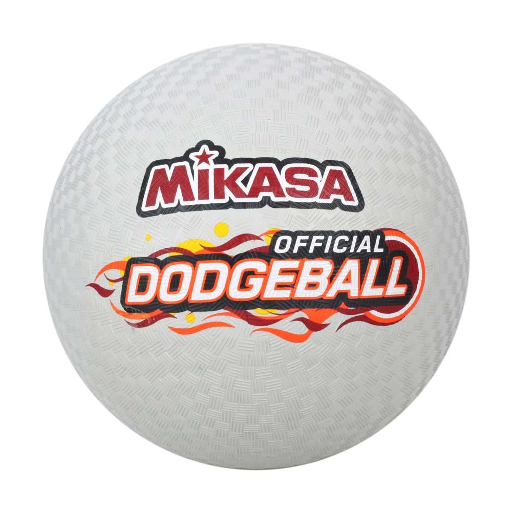 MIKASA 躲避球-橡膠-3號球 運動 訓練 淺灰黑橘 F