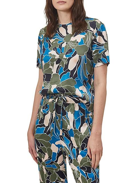 Saxonne Floral Silk T-Shirt