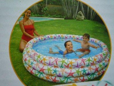 INTEX56440 原廠 彩色星星幼兒游泳池168cm*38cm送修補貼兒童玩水戲水游泳池遊戲球池