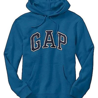 GAP 男生 長袖 帽T 藍色 0472