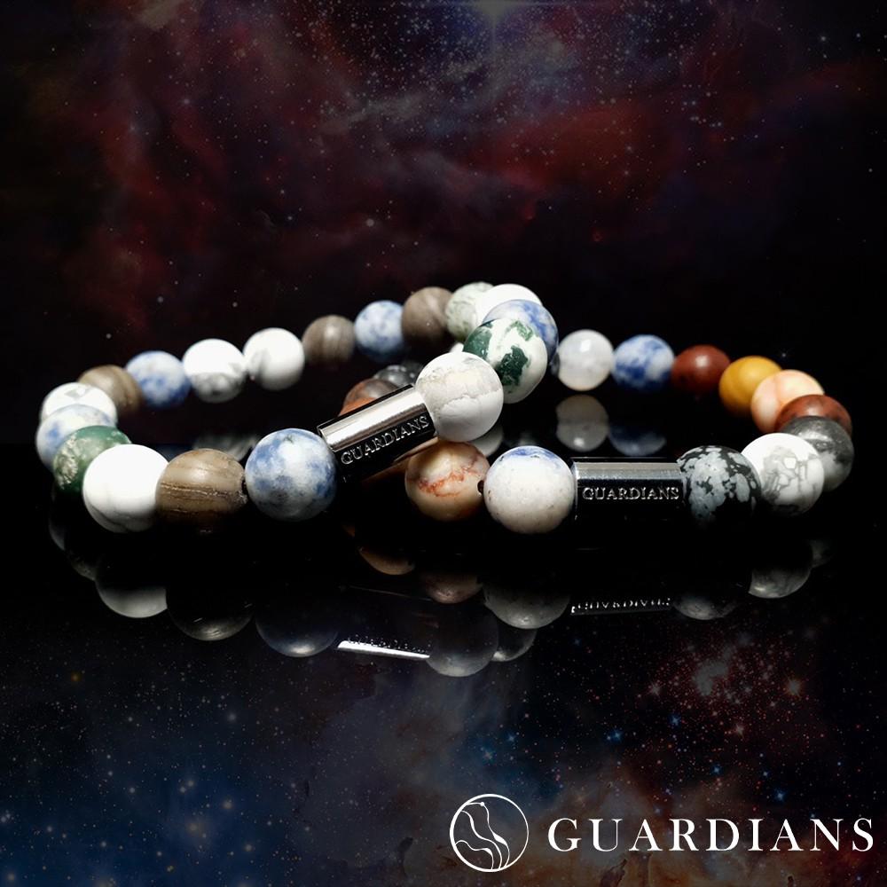 【Guardians】《Universe》星球宇宙行星手鍊/歐美風格/串珠手練/手鍊手環/鈦鋼不鏽鋼/配件/情侶對鍊