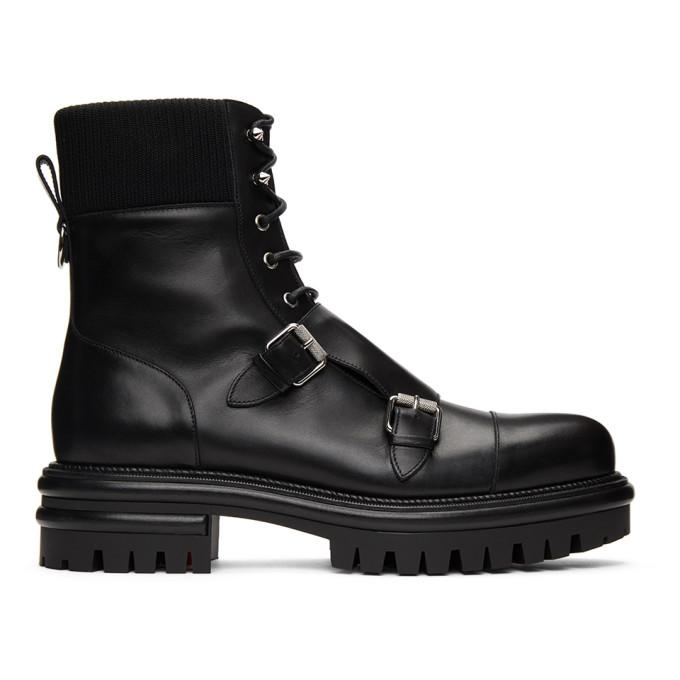 Christian Louboutin 黑色 Yetito 军风踝靴