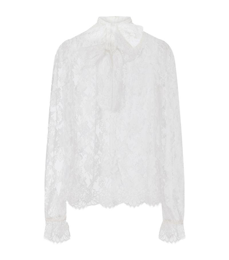 Dolce & Gabbana Chantilly Lace Blouse