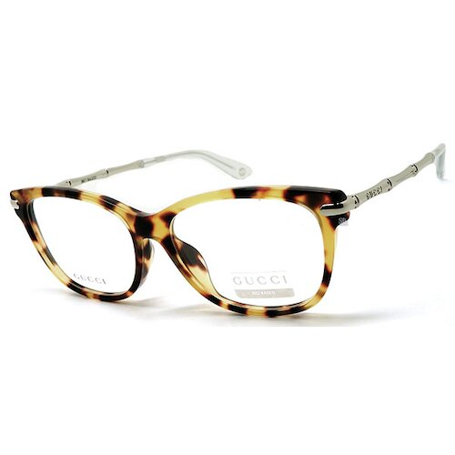 【GUCCI】古馳 光學眼鏡鏡框 GG3772F HRT 複合式膠框 橢圓框眼鏡 琥珀 竹節框造型 49mm