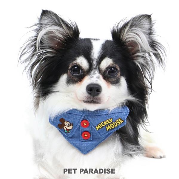 【PET PARADISE 寵物精品】DISNEY 米奇大頭牛仔領巾項圈【3S】 寵物造型項圈