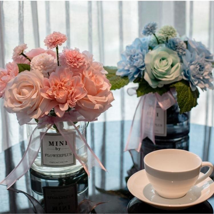 【限時折扣】客廳茶幾家居小擺飾品電視柜餐桌花室內辦公室少女心擺件仿真盆栽