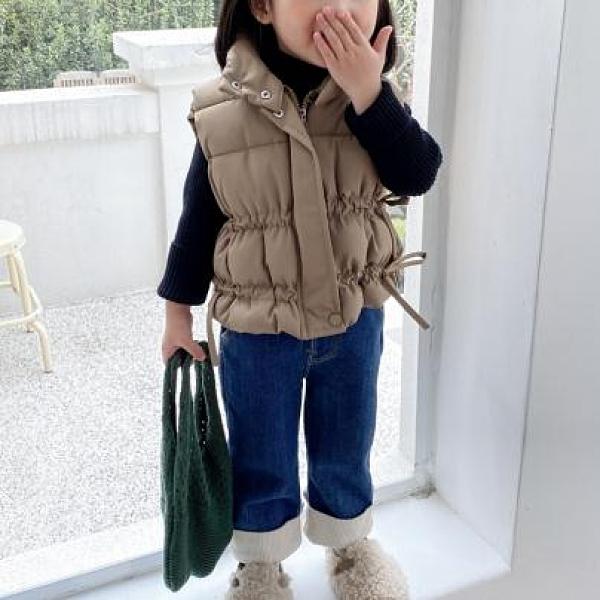 女童棉馬甲 女童秋冬季羽絨棉馬甲新款韓版兒童背心坎肩兒童洋氣加厚無袖外套