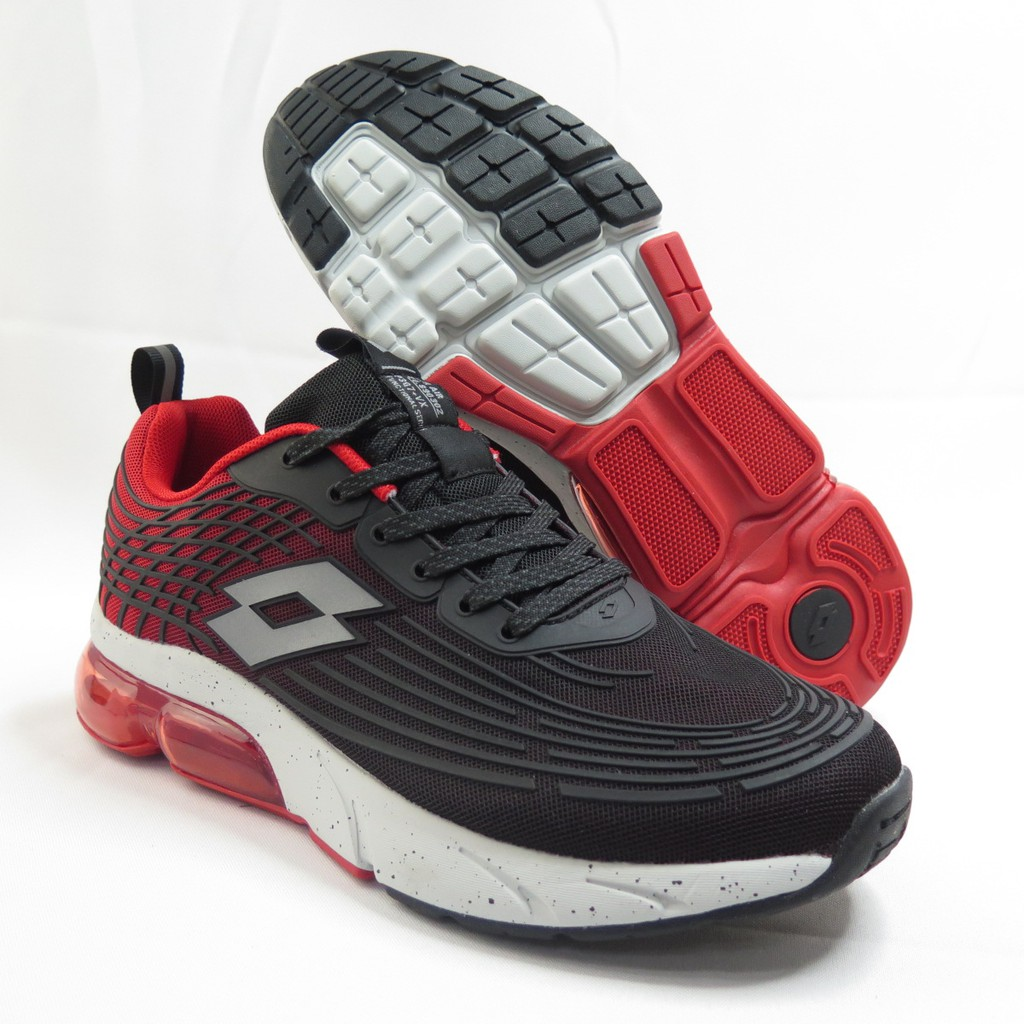 LOTTO 氣動樂跑KPU氣墊 男款 休閒鞋 氣墊鞋 慢跑鞋 LT1AMR3102 黑紅【iSport愛運動】