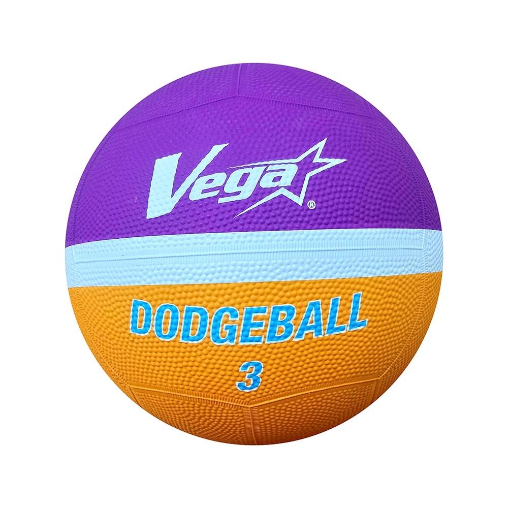 Vega 橡膠躲避球 #3 紫/橘