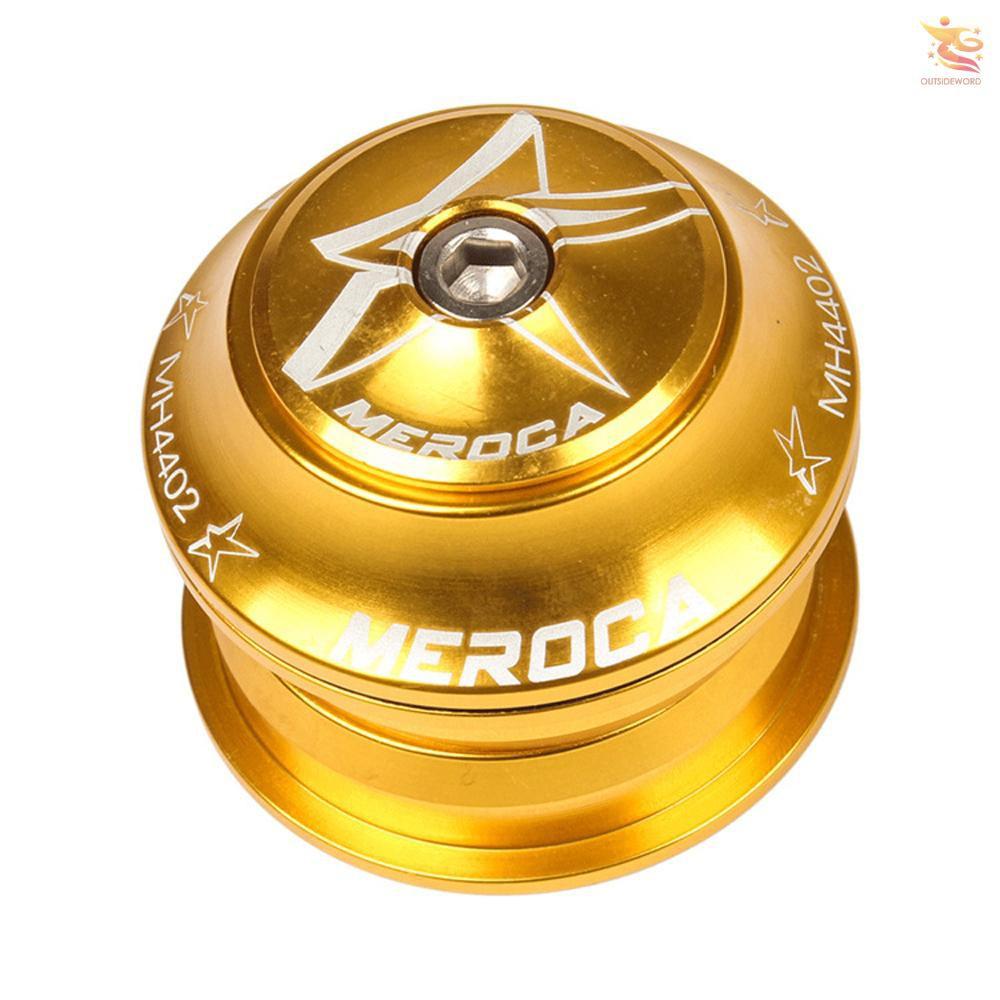 MEROCA 培林碗組超輕軸承山地車車頭44mm內置直管碗組黃色