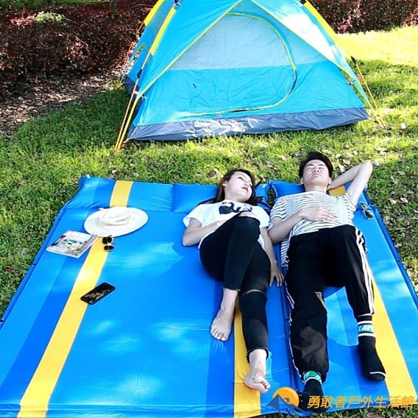 野餐戶外防潮墊露營自動充氣墊【勇敢者戶外】