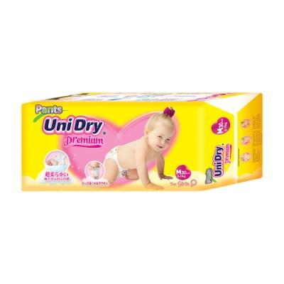 Unidry優力褲 嬰兒褲型紙尿褲特級版女生版M(30片x8包/箱)(嬰兒紙尿褲 褲型紙尿褲)
