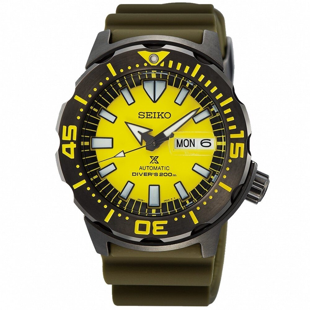 SEIKO 精工 Prospex 200米潛水機械錶(SRPF35K1/4R36-08B0Y)-42.4mm