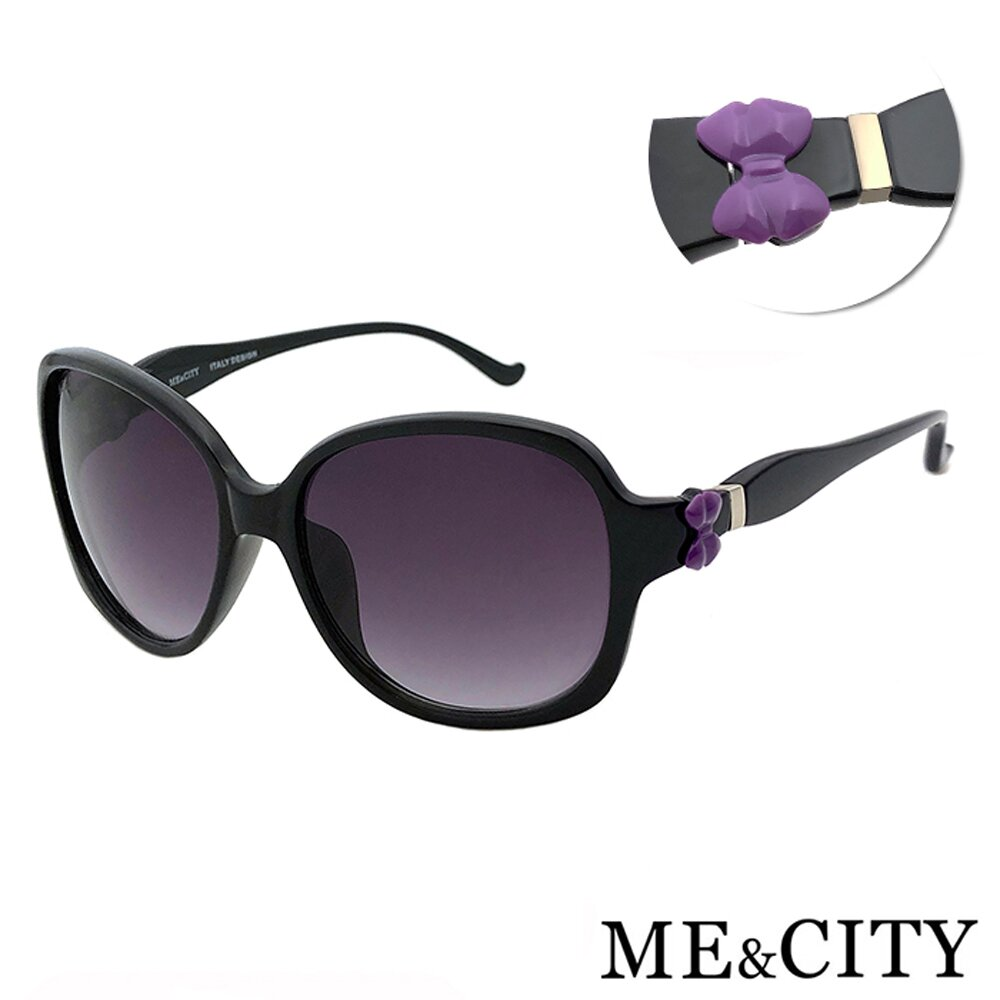 ME&CITY 甜美蝴蝶結造型太陽眼鏡 義大利設計款 抗UV400 (ME 1225 C01)