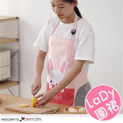 八號倉庫 日系卡通圖案可擦手圍裙 厨房用品 防水 防油【2X143N016】