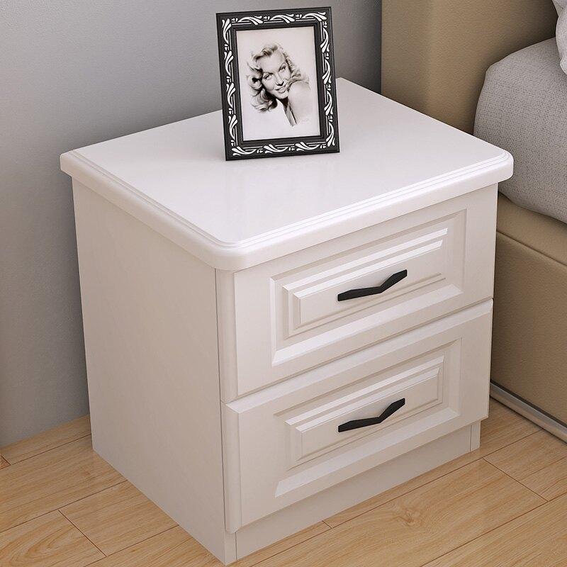 【限時折扣】床頭櫃簡約現代黑白色臥室儲物收納櫃北歐經濟型床邊小櫃子 入秋首選