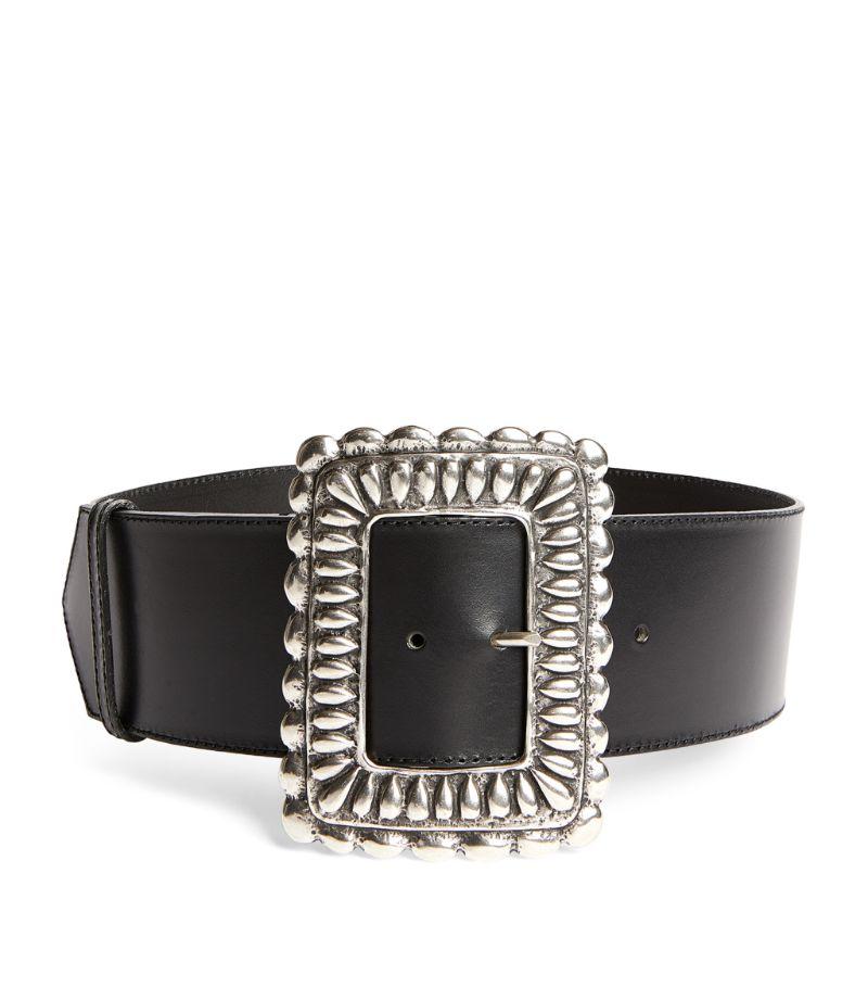 Etro Leather Large Buckle Belt