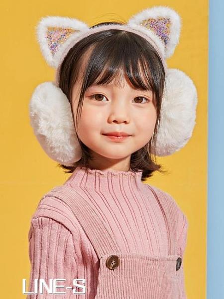 閃亮小貓耳兔耳罩冬天潮兒童戶外護耳保暖防凍可愛男女童小學生【尾牙大促】