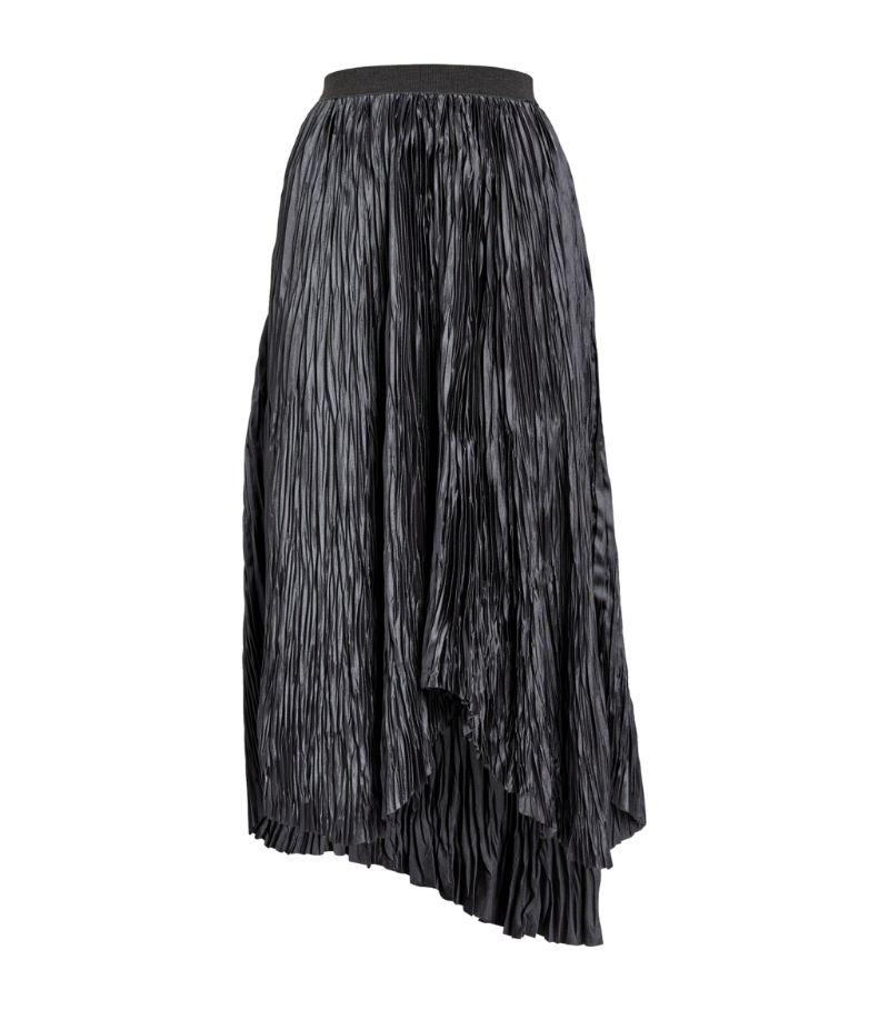 Fabiana Filippi Pleated Asymmetric Midi Skirt